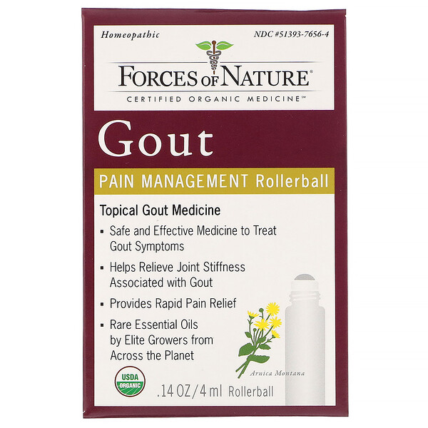Gout Pain Management, Rollerball, 0.14 oz (4 ml)