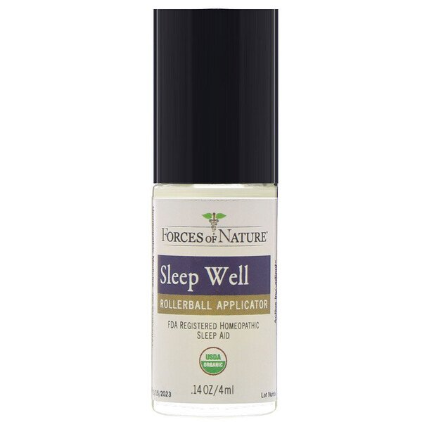 Forces of Nature, Sleep Well Control, Rollerball, 0.14 oz (4 ml)