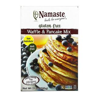 Namaste Foods, Безглютеновая смесь для вафель и блинов, 21 унция (595 г)