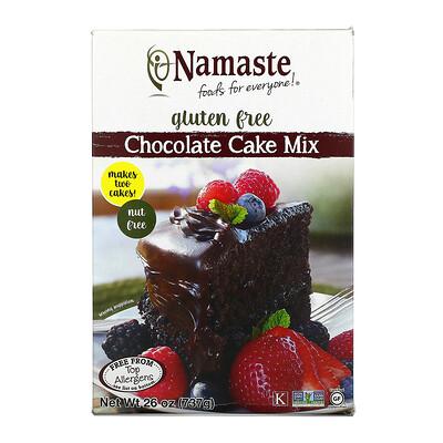 Купить Namaste Foods Chocolate Cake Mix, Gluten Free, 26 oz (737 g)