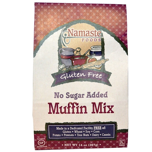 Namaste Foods, Muffin Mix, Gluten Free, Sugar Free, 14 oz (397 g) (Discontinued Item)