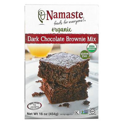 Namaste Foods Organic, Dark Chocolate Brownie Mix, Gluten Free, 16 oz (454 g)