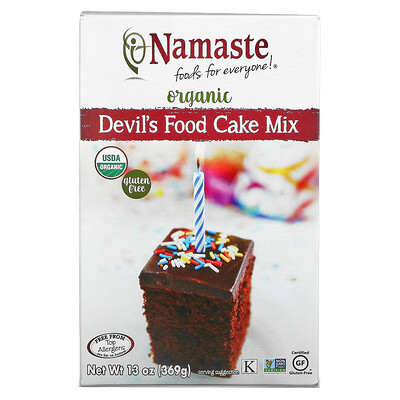 Купить Namaste Foods Organic, Devil's Food Cake Mix, 13 oz (369 g)