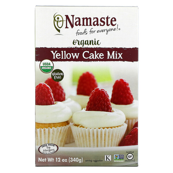 Organic, Yellow Cake Mix, 12 oz (340 g)