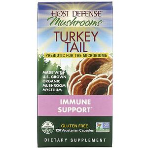 Фунги Перфекти, Host Defense, Mushrooms, Turkey Tail, Immune Support, 120 Vegetarian Capsules отзывы