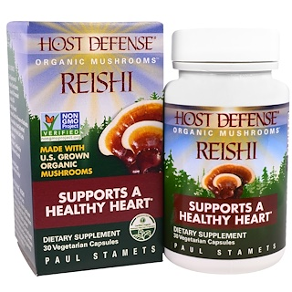 Fungi Perfecti, Reishi, Supports a Healthy Heart, 30 Veggie Caps
