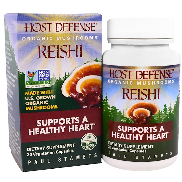 Fungi Perfecti, 霊芝、健康的な心臓をサポート 植物性カプセル30粒 (Discontinued Item)