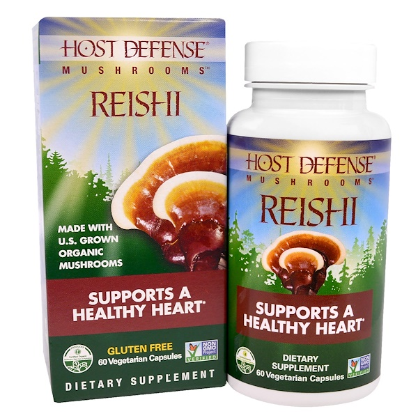 Fungi Perfecti, Mushrooms, Reishi, Supports a Healthy Heart, 60 Veggie Caps