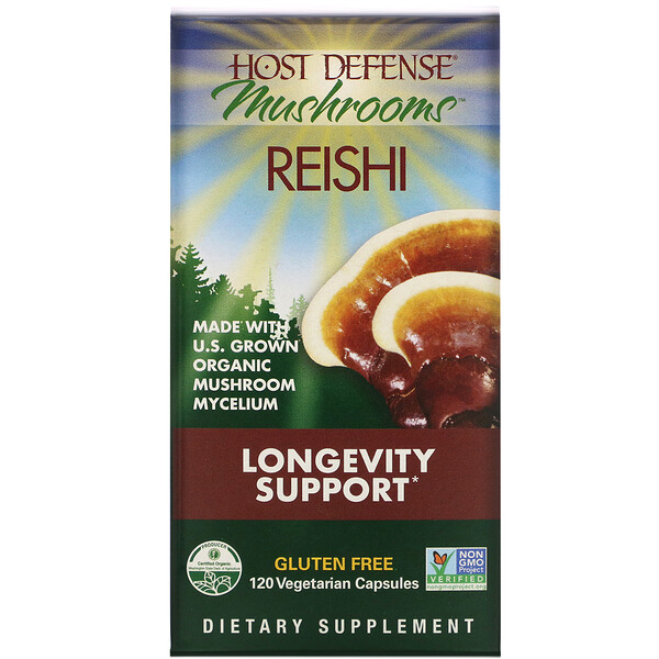 Reishi, Longevity Support, 120 Vegetarian Capsules
