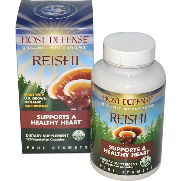 Reishi, Supports A Healthy Heart, 120 Veggie Caps