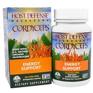 Fungi Perfecti, Mushrooms, Cordyceps, Energy Support, 30 Veggie Caps