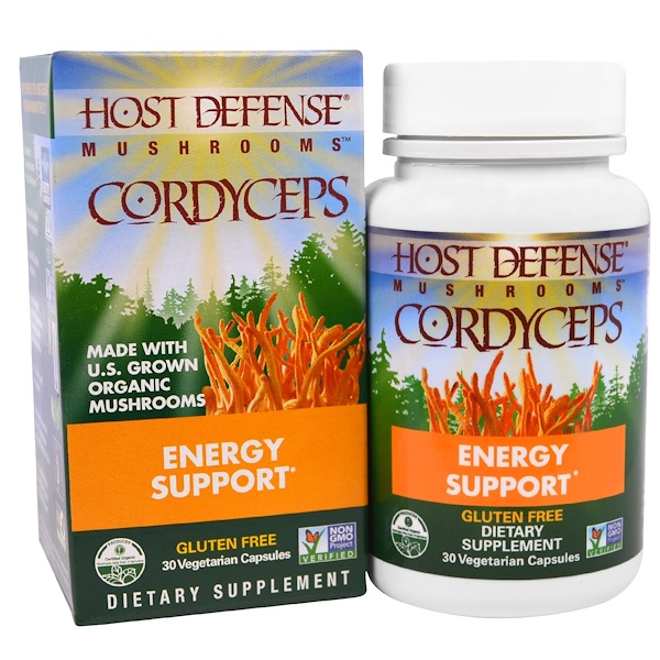 Fungi Perfecti, Mushrooms, Cordyceps, Energy Support, 30 Veggie Caps