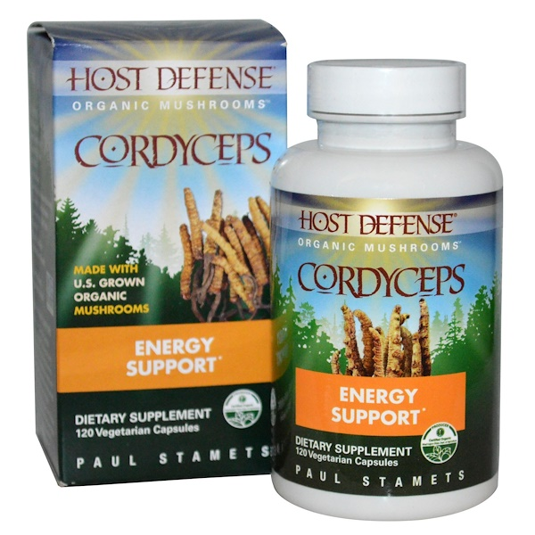 Fungi Perfecti, Host Defense, Cordyceps, 120 Veggie Caps