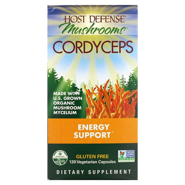 Cordyceps, Energy Support, 120 Vegetarian Capsules