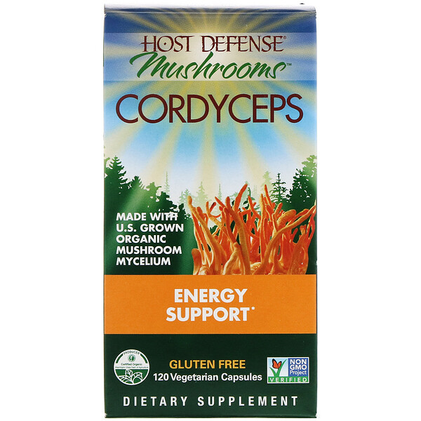 Cordyceps, Energy Support, 120 Vegetarian Capsules