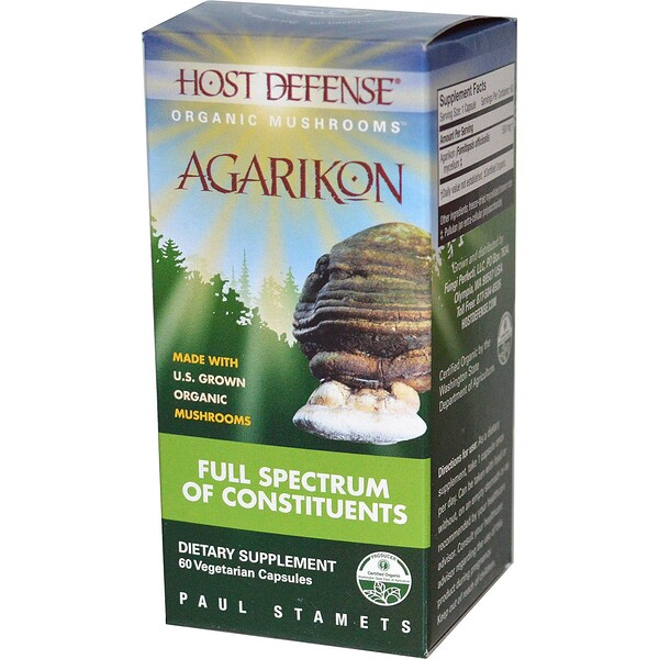 Fungi Perfecti, Agarikon, 60 cápsulas vegetarianas