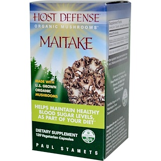Fungi Perfecti, Host Defense, Maitake, 120 Veggie Caps
