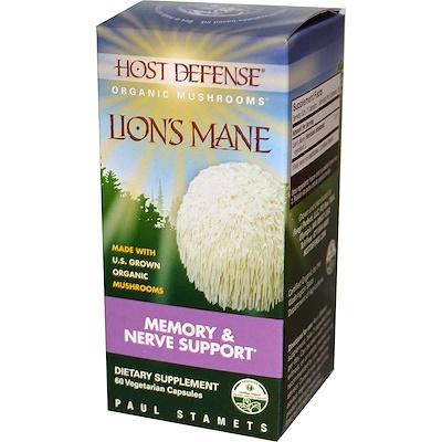 Фото - Lion's Mane, Memory & Nerve Support, 60 Vegetarian Capsules ip6 gold immune support formula 240 vegetarian capsules