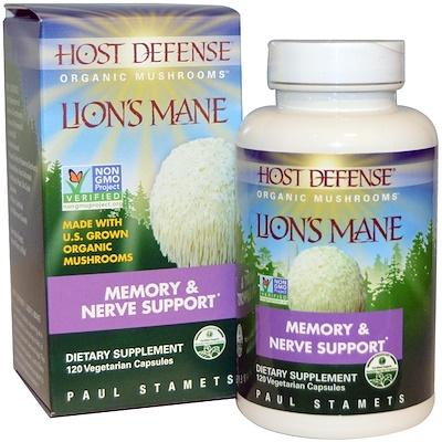 Фото - Lion's Mane, Memory & Nerve Support, 120 Vegetarian Capsules ip6 gold immune support formula 240 vegetarian capsules
