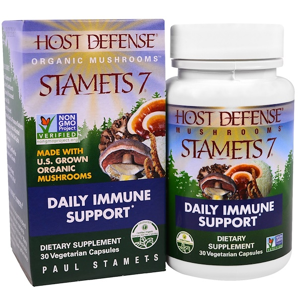 Fungi Perfecti, Stamets 7, Daily Immune Support, 30 Veggies Caps (Discontinued Item)
