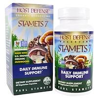 Stamets 7, ежедневная поддержка иммунитета, 60 растительных капсул - фото