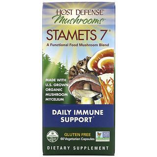 Fungi Perfecti, Stamets 7,每日抵抗支持,60 粒素食胶囊