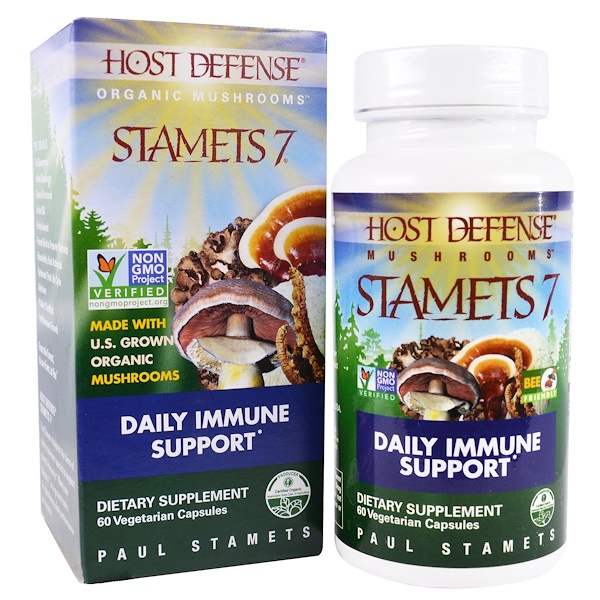 Stamets 7, Daily Immune Support, 60 Veggie Caps