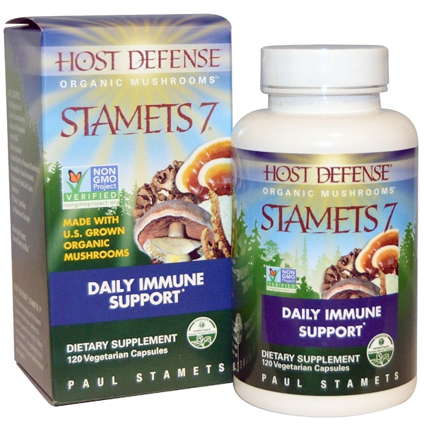 Stamets 7, Daily Immune Support, 120 Vegetarian Capsules