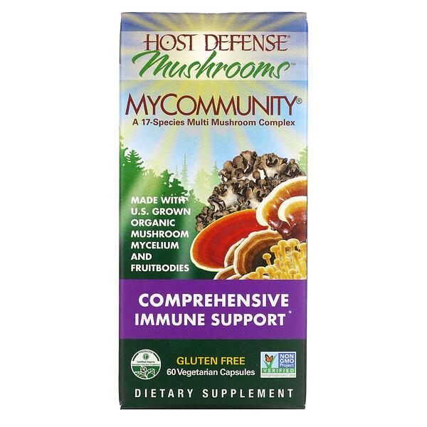 MyCommunity, A 17 Species Multi Mushroom Complex, 60 Vegetarian Capsules