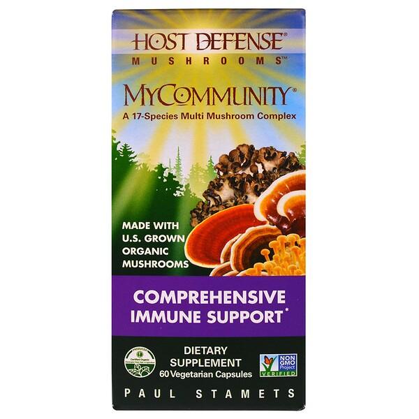 Fungi Perfecti, MyCommunity 17 Mushroom Complex, 60 Veggie Caps