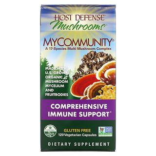 Fungi Perfecti, MyCommunity, Complexo Múltiplo de Cogumelos de 17 Espécies, 120 Cápsulas Vegetarianas