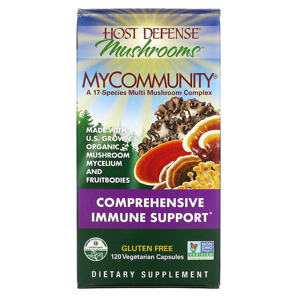 Fungi Perfecti, MyCommunity، مركب 17 نوعًا من الفطريات المتعددة، 120 كبسولة نباتية