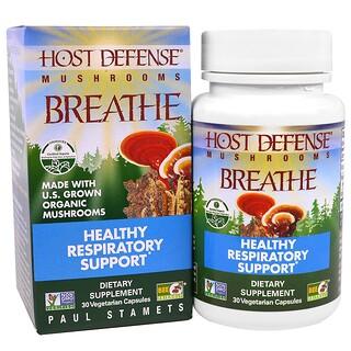Fungi Perfecti, Host, Defense, Breath, Healthy Respiratory Health, 30 Veggie Capsules