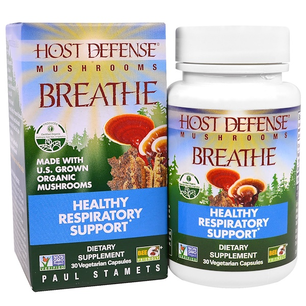 Fungi Perfecti, Breath, Healthy Respiratory Health, 30 Veggie Capsules (Discontinued Item)