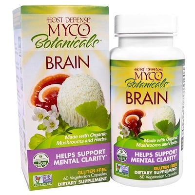 Купить Fungi Perfecti MycoBotanicals, Brain, 60 Vegetarian Capsules