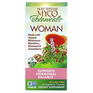 Fungi Perfecti, Myco Botanicals Woman, Supports Hormonal Balance, 60 Vegetarian Capsules