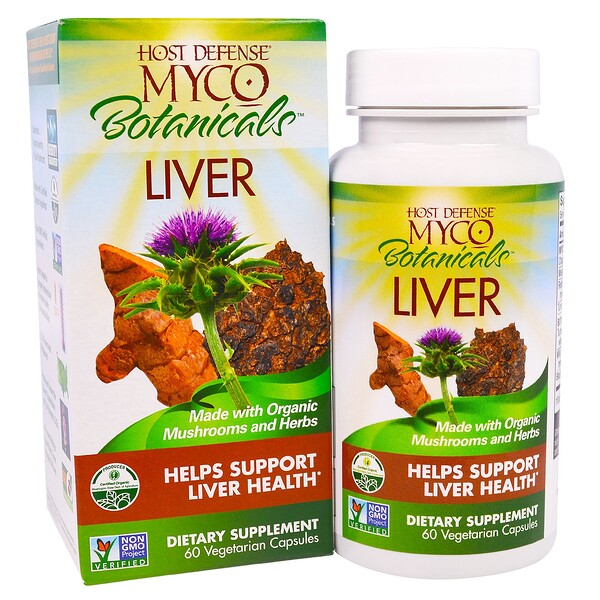 Myco Botanicals Liver, Helps Support Liver Health, 60 Vegetarian Capsules