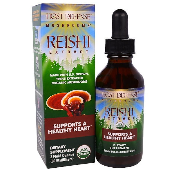 Fungi Perfecti, Mushrooms, Organic Reishi Extract, Supports A Healthy Heart, 2 fl oz (60 ml) (Discontinued Item)