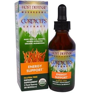 Fungi Perfecti, Mushrooms, Organic Cordyceps Extract, Energy Support, 2 fl oz (60 ml)