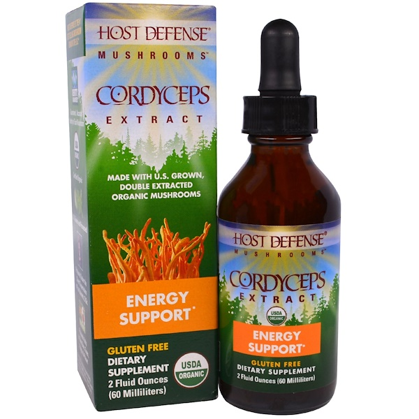 Fungi Perfecti, Mushrooms, Organic Cordyceps Extract, Energy Support, 2 fl oz (60 ml)