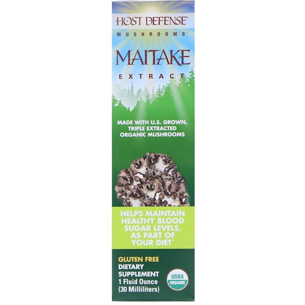 Fungi Perfecti, Mushrooms, Organic Maitake Extract, 1 fl oz (30 ml)