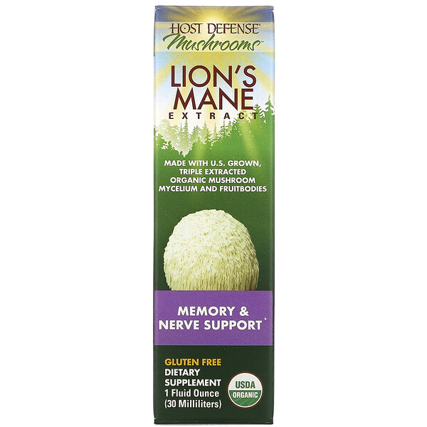 Lion's Mane Extract, Memory & Nerve Support, 1 fl oz (30 ml)