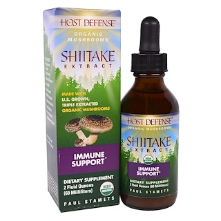 Fungi Perfecti, Organic Shiitake Extract, Immune Support, 2 fl oz (60 ml)