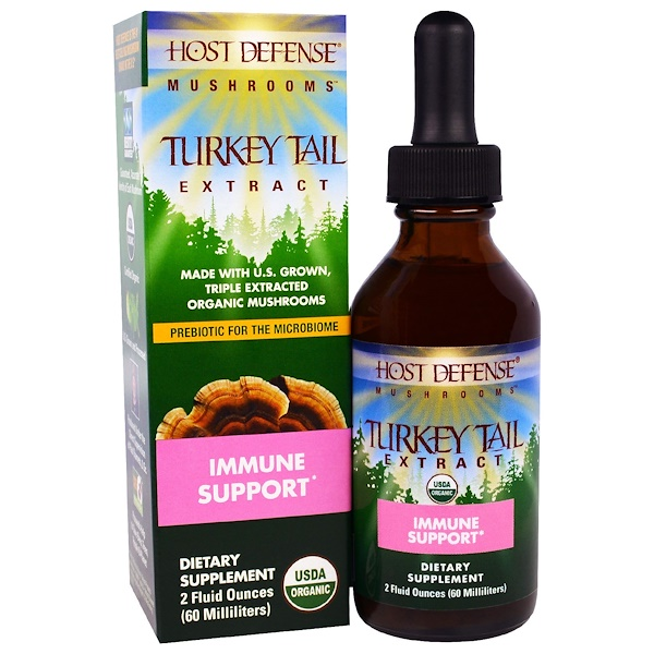 Fungi Perfecti, Host Defense Mushrooms, Organic Turkey Tail Extract, Immune Support, 2 fl oz (60 ml)