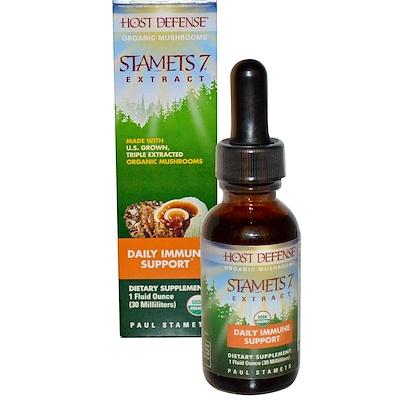 Купить Fungi Perfecti Stamets 7 Extract, ежедневная иммунная поддержка, 1 жидкая унция (30 мл)