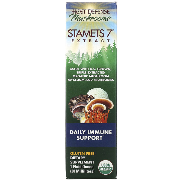 Host Defense, Stamets 7 Extract, Daily Immune Support, 1 fl oz (30 ml)