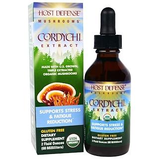 Fungi Perfecti, Host Defense Mushrooms, Organic Cordychi Extract, Supports Stress & Fatigue Reduction, 2 fl oz (60 ml)