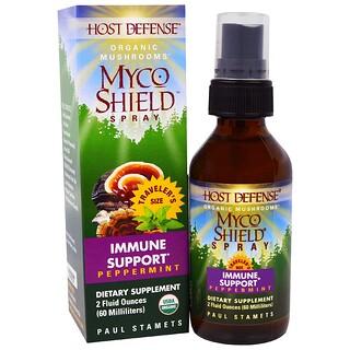 Fungi Perfecti, Organic Myco Shield Spray, Immmune Support, Peppermint, 2 fl oz (60 ml)