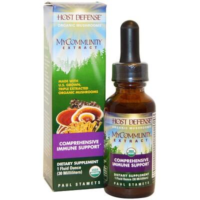 Купить Fungi Perfecti MyCommunity Extract, Comprehensive Immune Support, 1 fl oz (30 ml)