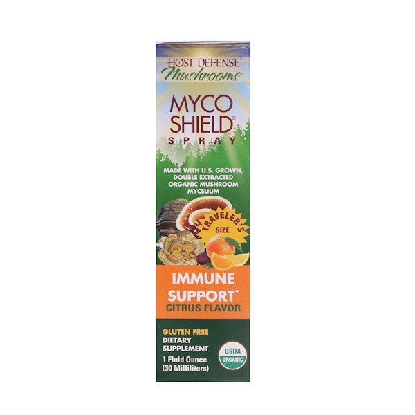 Fungi Perfecti, Mushrooms, Organic Myco Shield Spray, Immune Support Citrus Flavor, 1 fl oz (30 ml) (Discontinued Item)